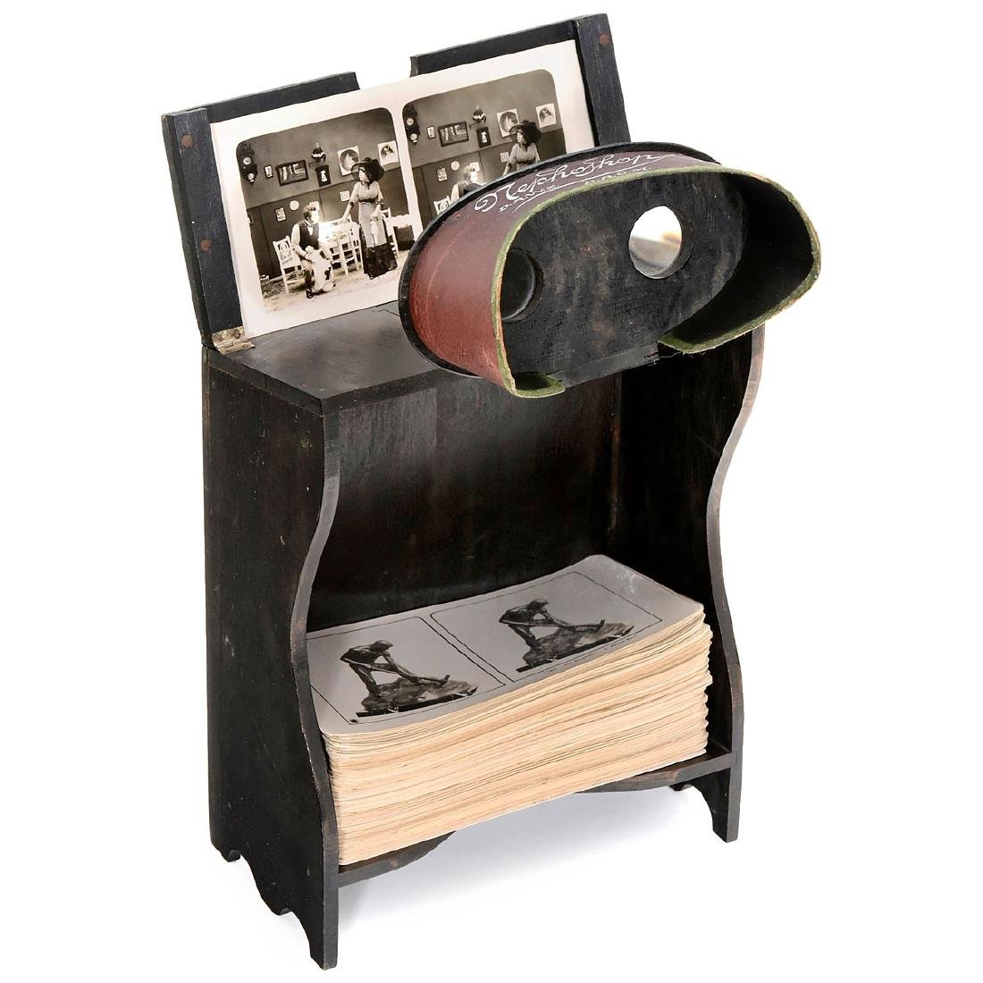 """""""Nephoskop"""" Stereo Viewer with Cards, c. 1900"""