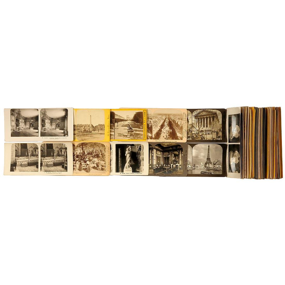Approx. 70 Stereo Cards of 9 x 18 of France