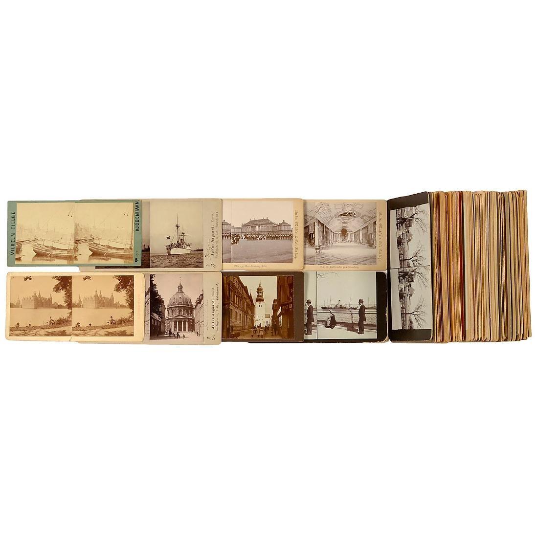 "93 Stereo Cards ""Denmark"" 9 x 18 cm, c. 1900"