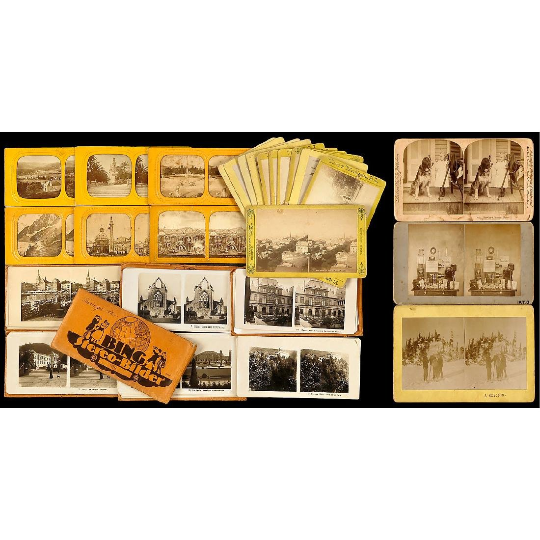 Lot of Stereo Cards (9 x 18 and 10 x 18 cm)