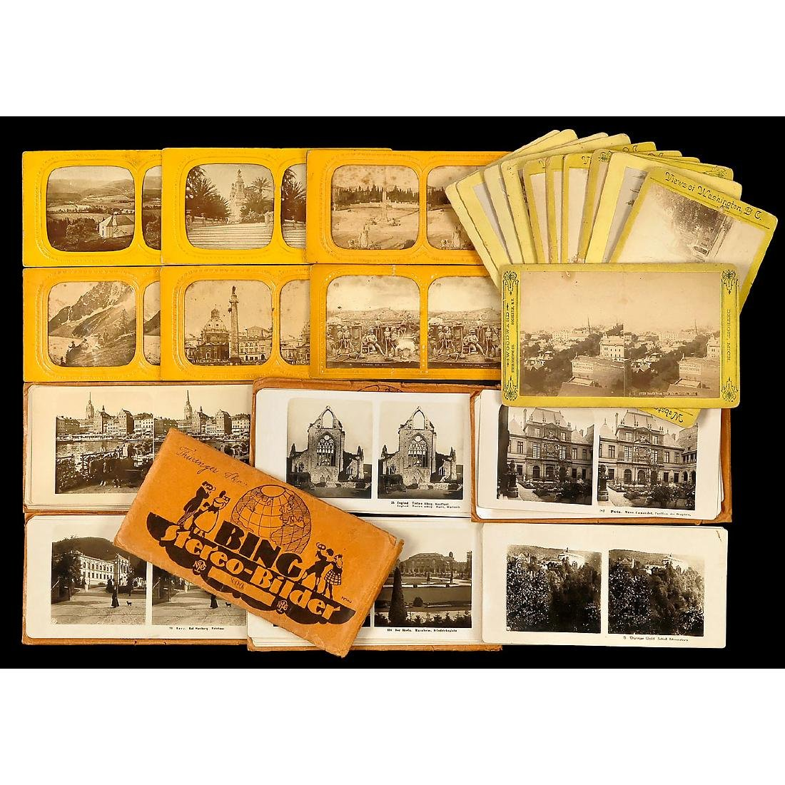 Lot of Stereo Cards (9 x 18 and 10 x 18 cm) - 2