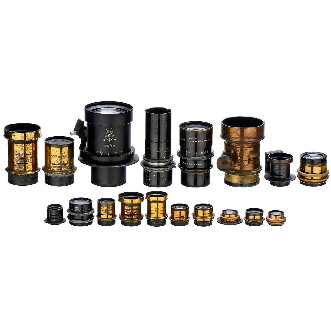 18 Lenses by Ross, London, 1875–1920