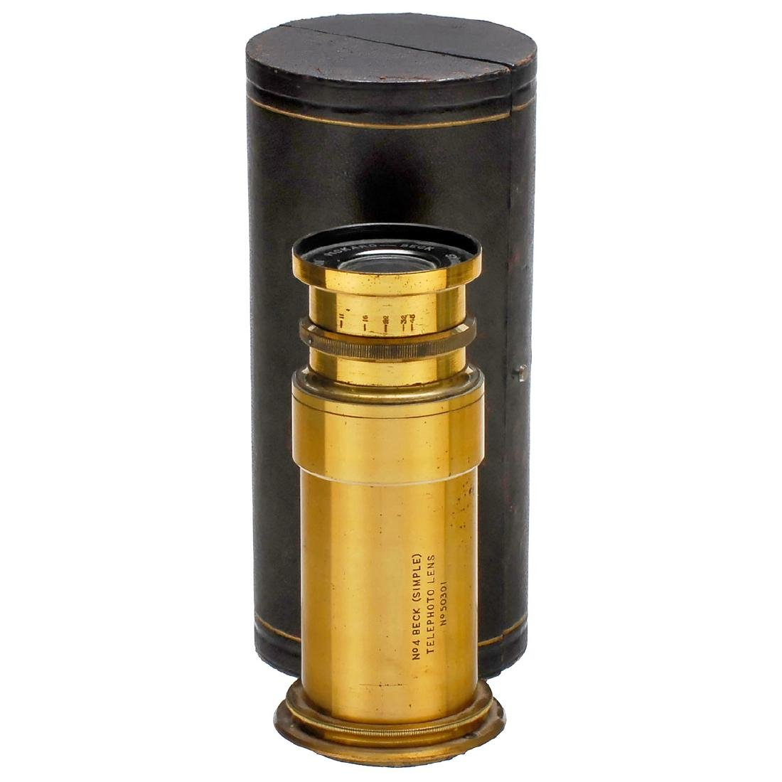 """No. 4 Beck (Simple) Telephoto Lens"", c. 1905"
