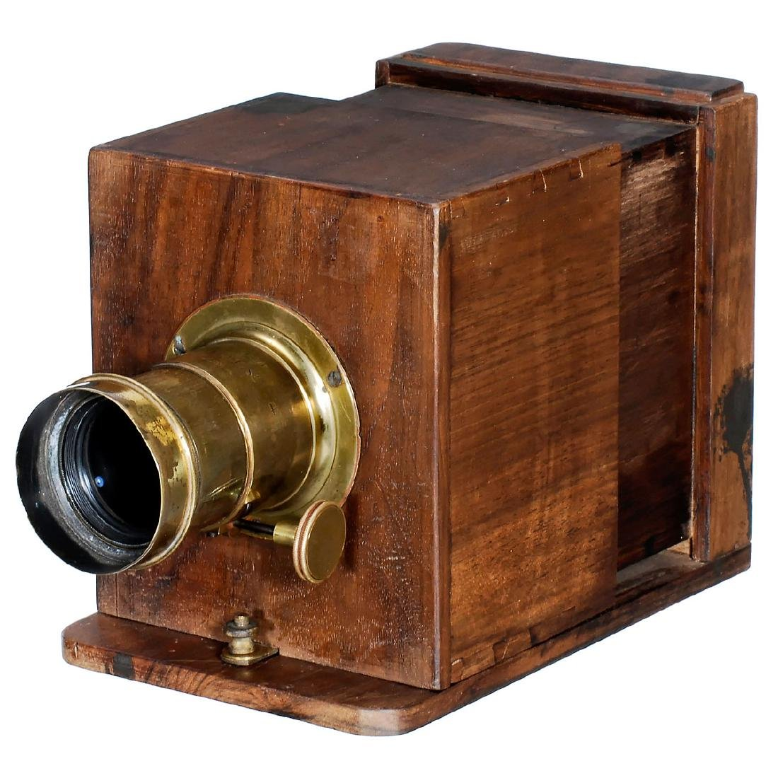 Wet Plate Sliding Box Camera With Jamin And Darlot