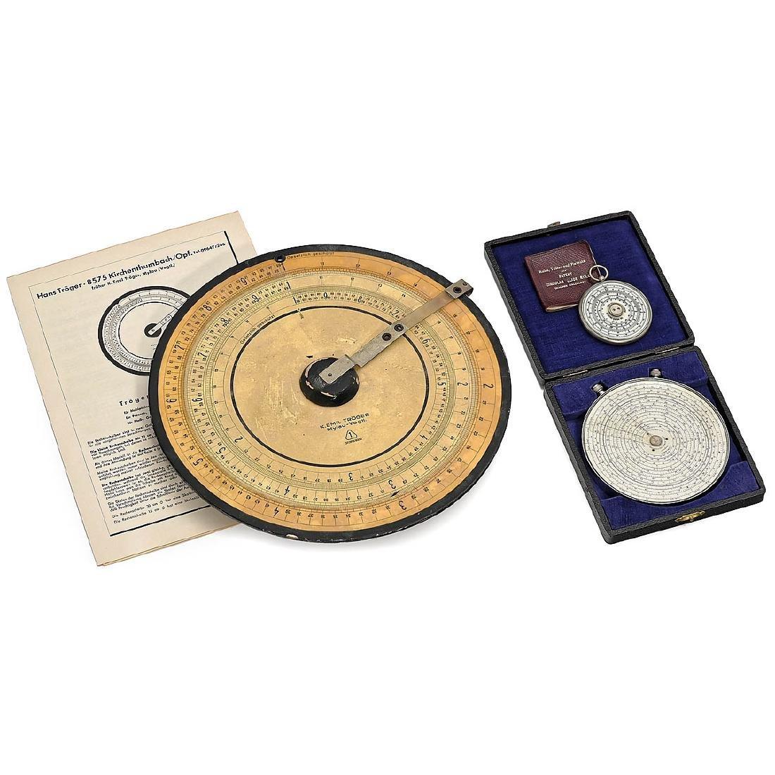 3 Logarithmic Calculating Discs