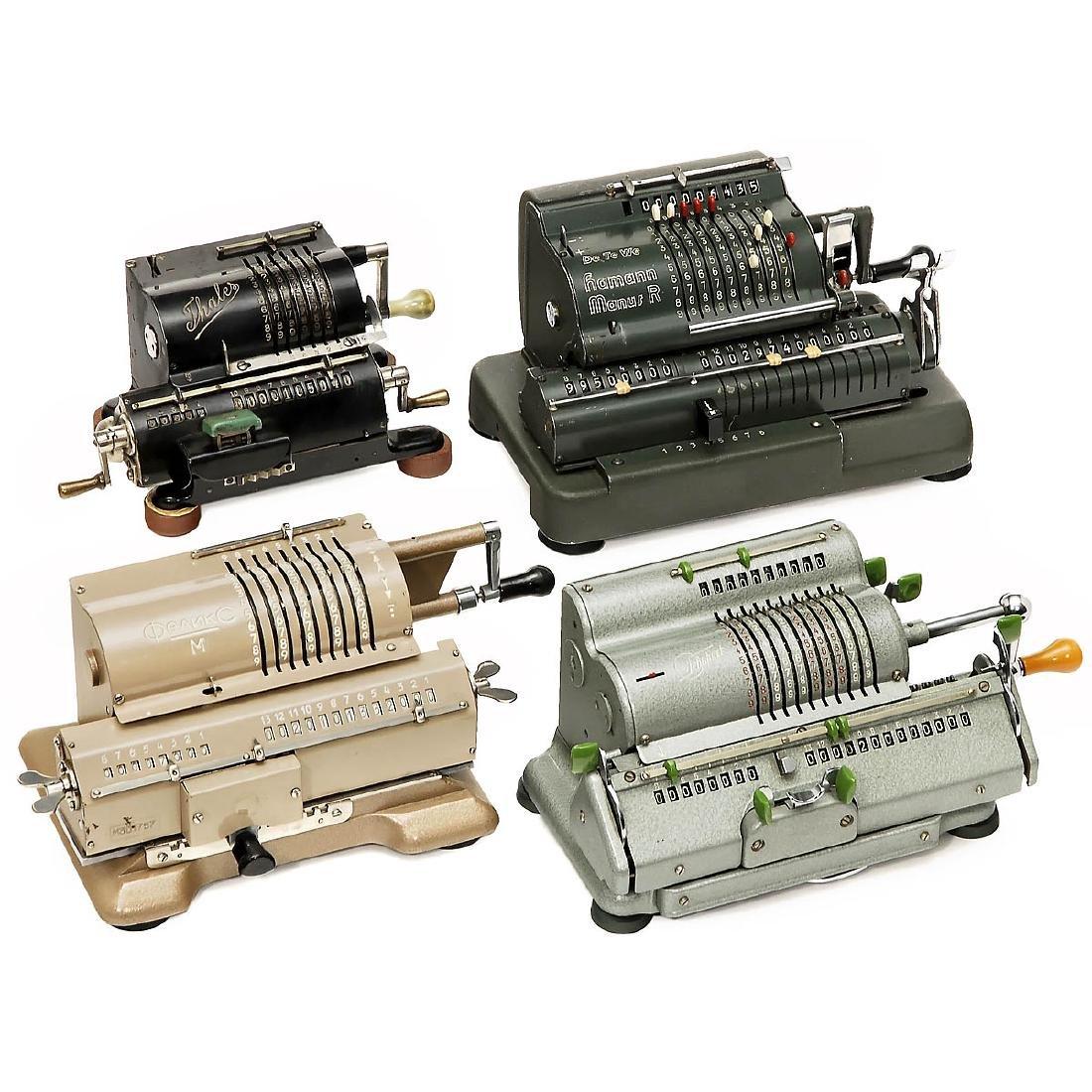 4 Spokewheel Calculating Machines