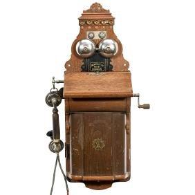 L.M. Ericsson Model AB 520 Wall Phone, c. 1905