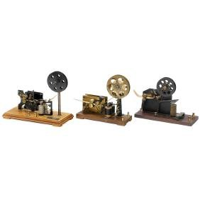 3 Telegraph Receiver Demonstration Models, c. 1910
