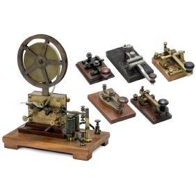 Telegraph Writer and 5 Morse Keys, c. 1900