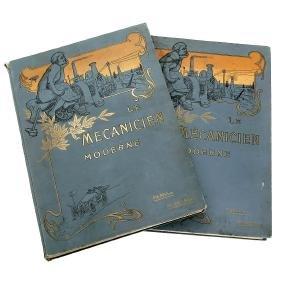 2 Volumes of Le Mécanicien Moderne, c. 1910
