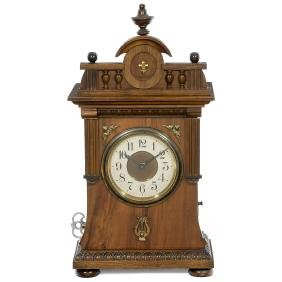 Junghans Alarm Clock with Musical Movement, c. 1915