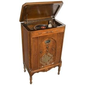 Majestic Floor Standing Radio with Gramophone, c. 1940