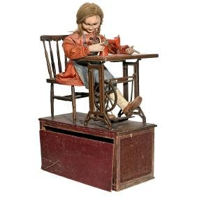 Advertising Automaton with Sigma Sewing Machine, c.