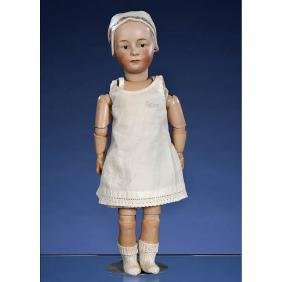 Baby Stuart Bisque Character Doll by Gebrüder Heubach,