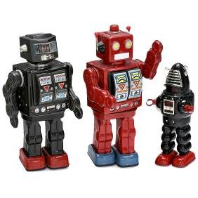 3 Japanese Toy Robots