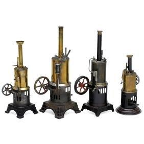 4 Vertical Steam Engines, c. 1920