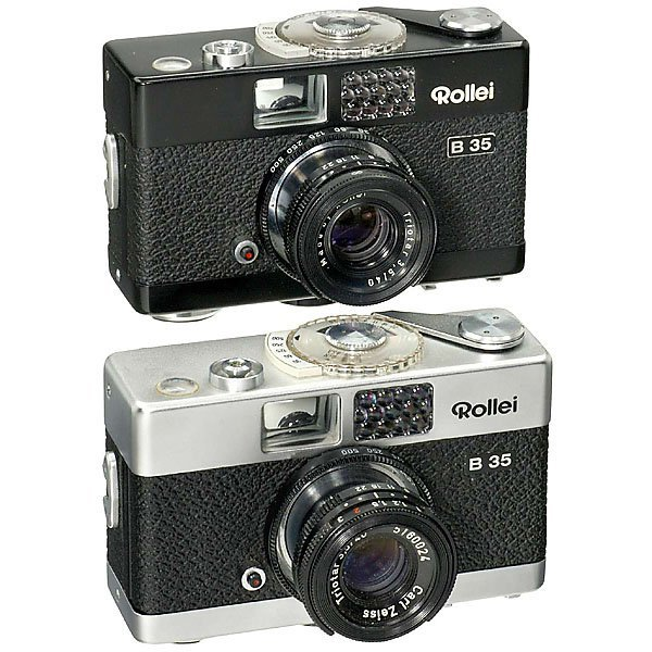 """8: 2 x """"Rollei B 35"""" (Black and Chrome)"""