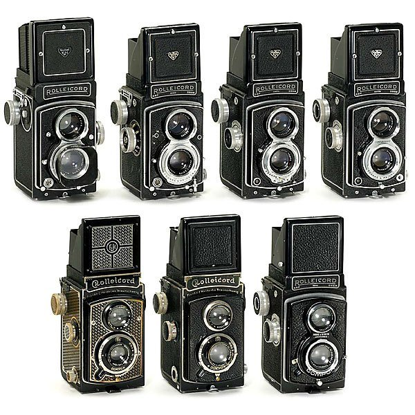 10 rolleicord camera collection