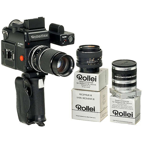 """12: Rollei Outfit """"Rolleiflex SL 2000F Cubical Motorize"""