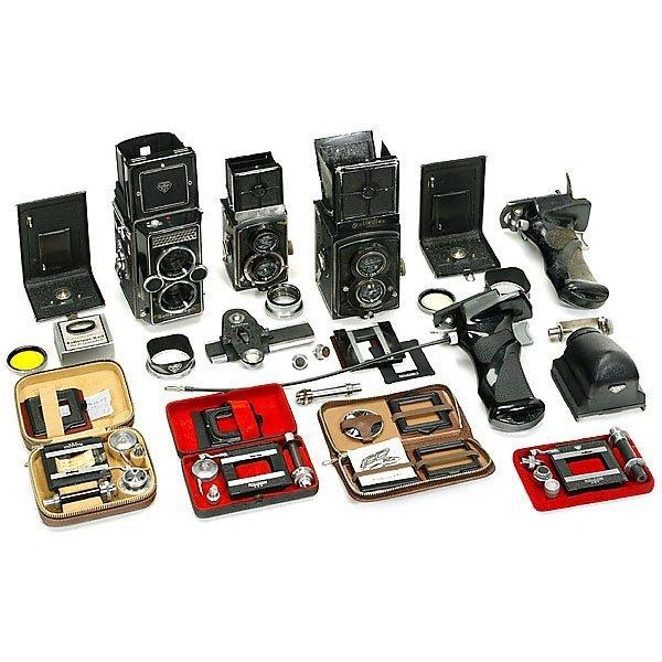 "16: 3 Cameras ""Rolleiflex"" and Accessories"