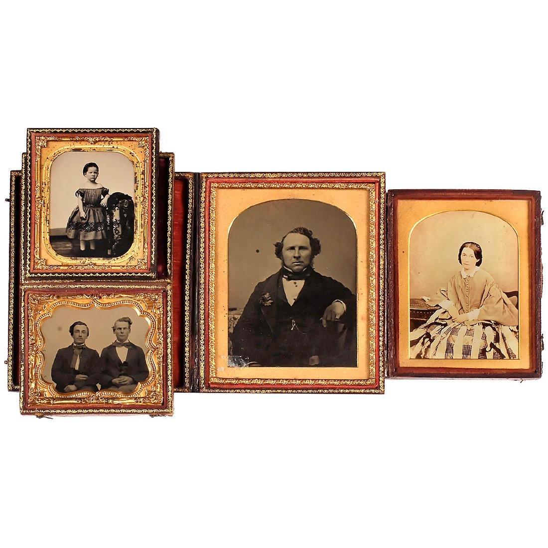 3 Ambrotypes, c. 1850-60