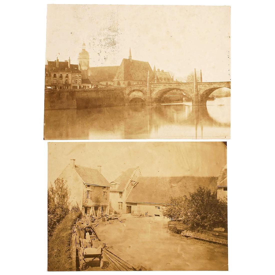 2 Salt-Paper Prints by Fortuné-Joseph Petiot-Groffier