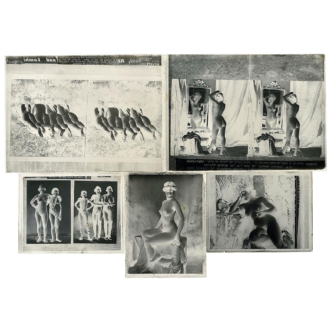 Group of Glass Plates with Nude Photographs, c. 1900 - 2