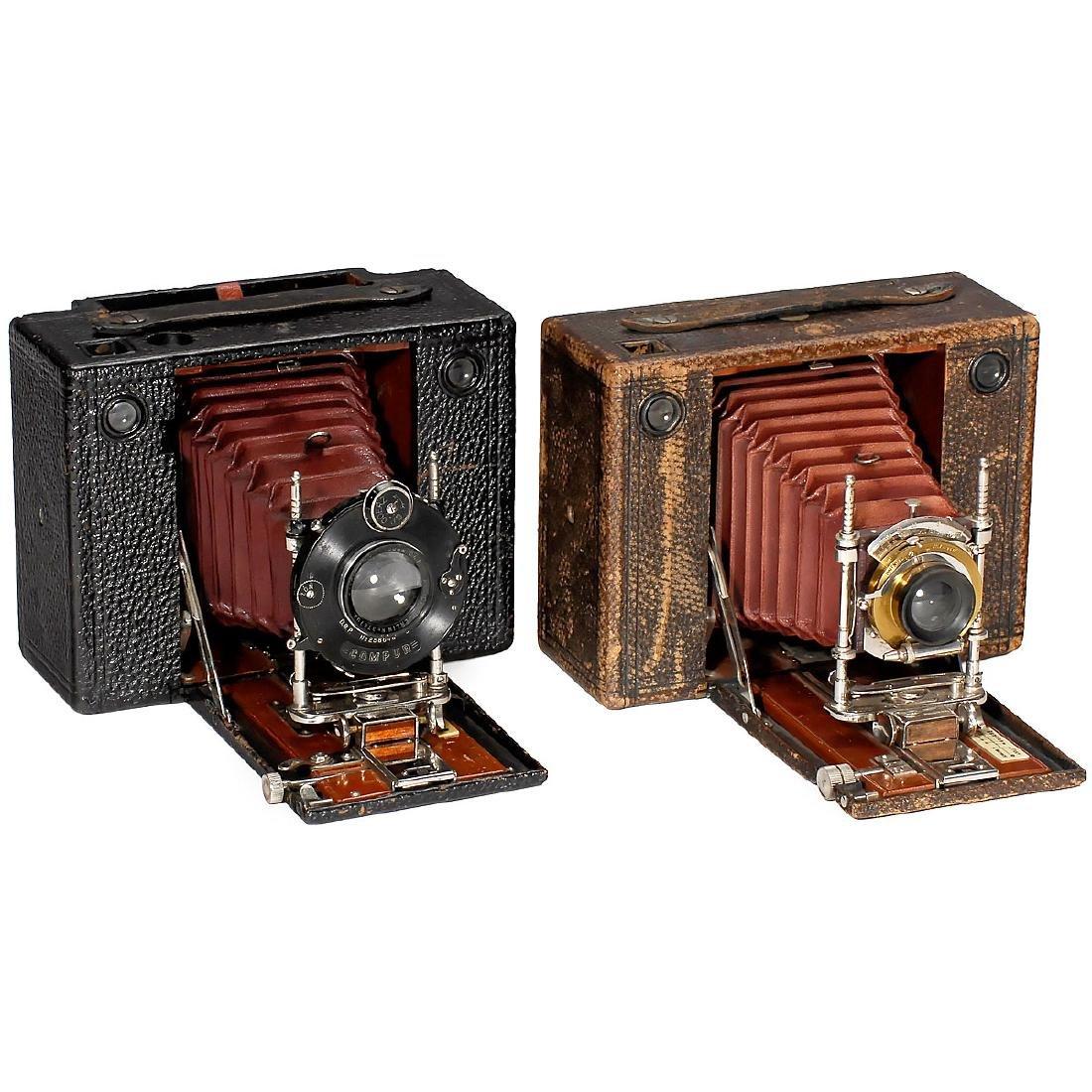 2 Kodak Cartridge No. 4 Cameras, Models E and F, 1897