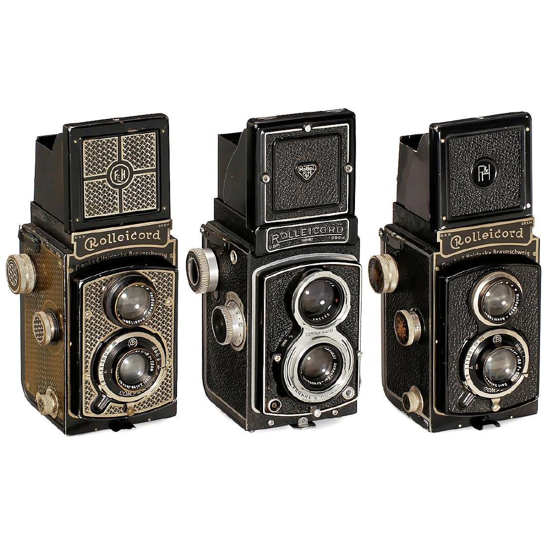 3 Rolleicord Cameras
