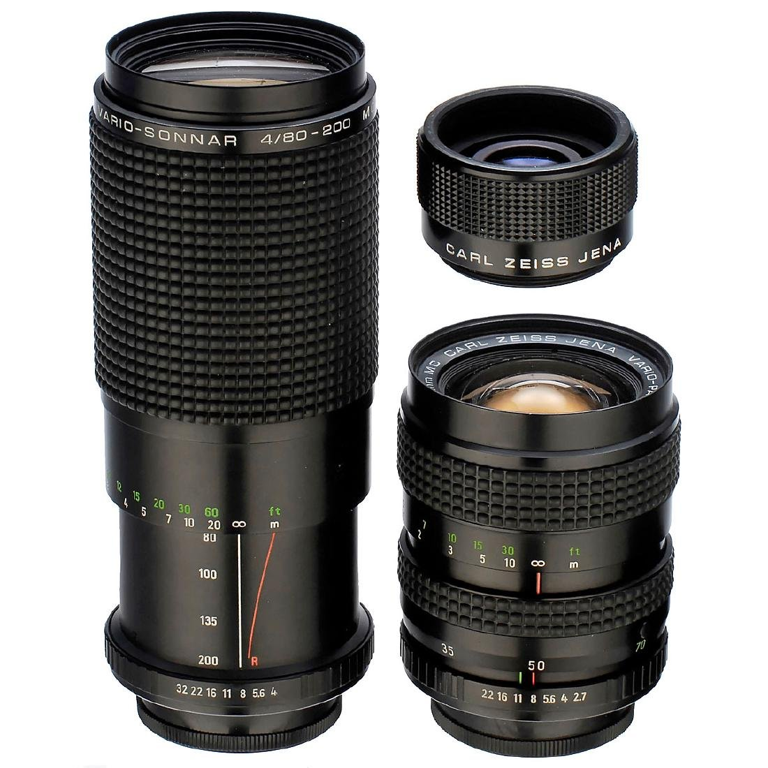 3 Carl Zeiss Lenses with M42 Screw-Mounts