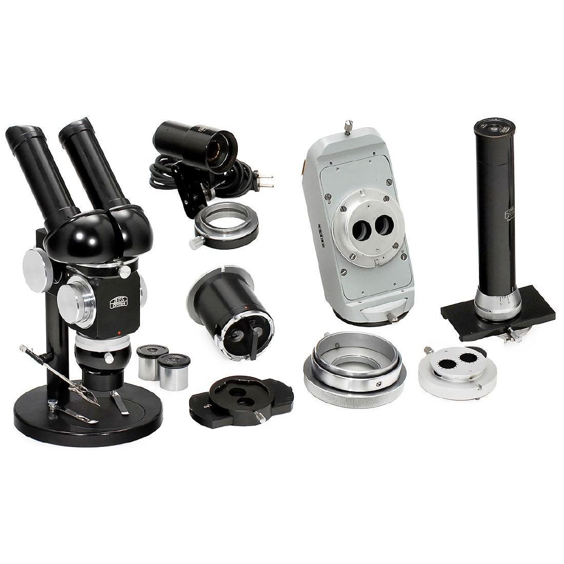 Zeiss Opton Stereo Microscope with Accessories