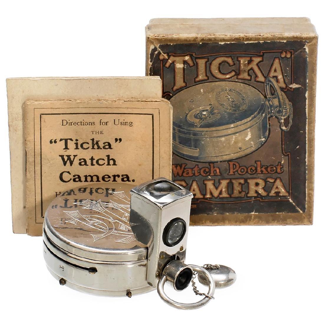 """Ticka"" Watch Pocket Camera with Original Box, 1905"