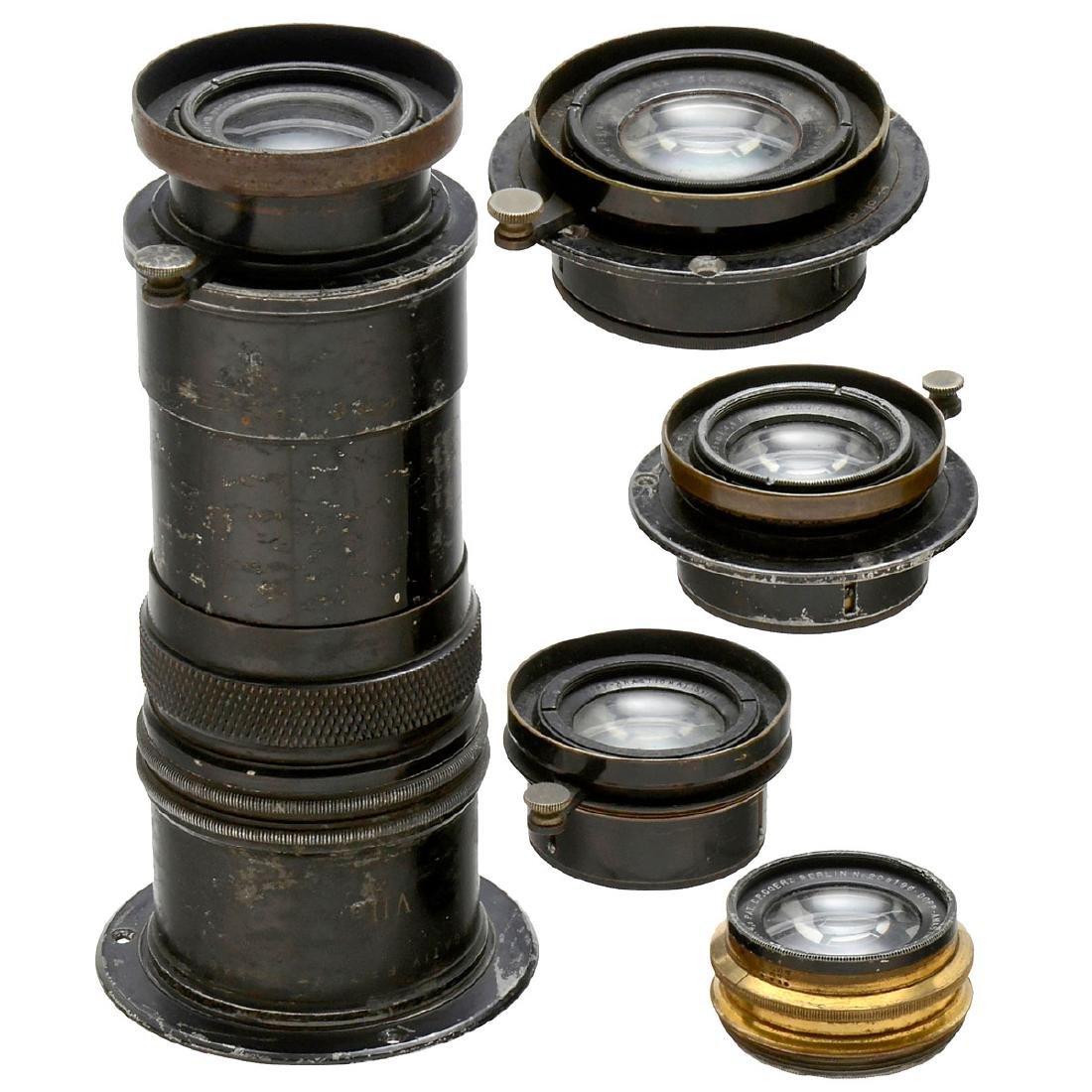 5 Goerz Lenses, c. 1900-1910