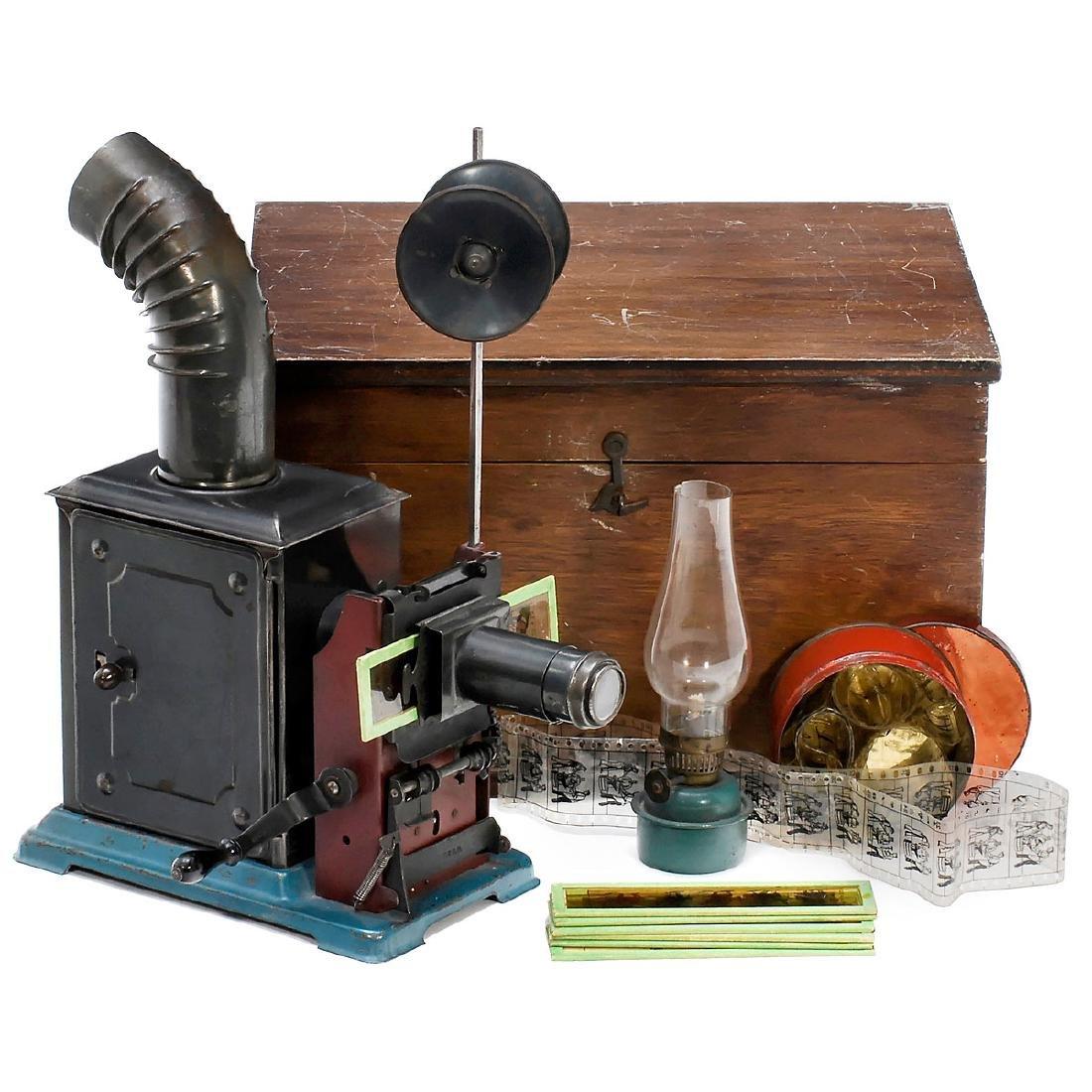 """Small Cinematograph Magic Lantern """"No. 441"""", c. 1900"""