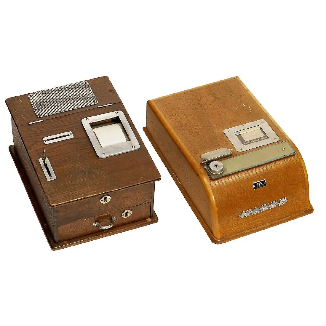 2 Cash Registers for Hand-Written Paper Strips, c. 1930