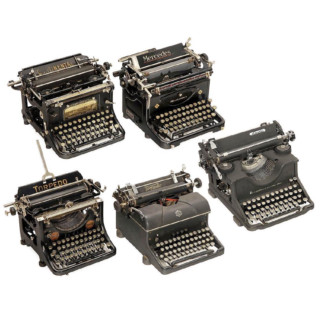 5 Typewriters