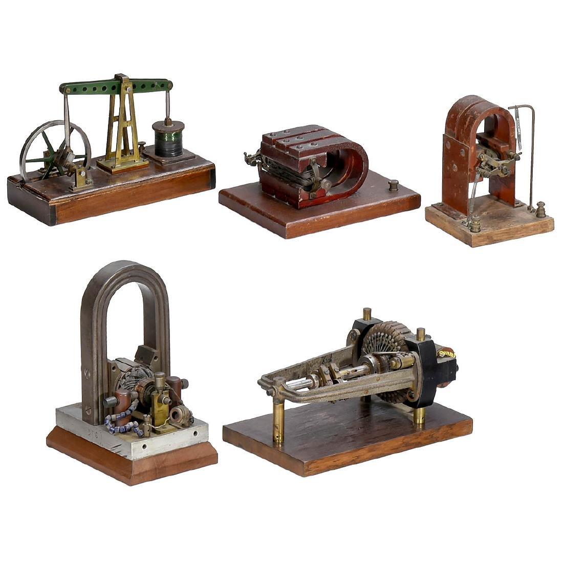 5 Early Electric Motors, c. 1900