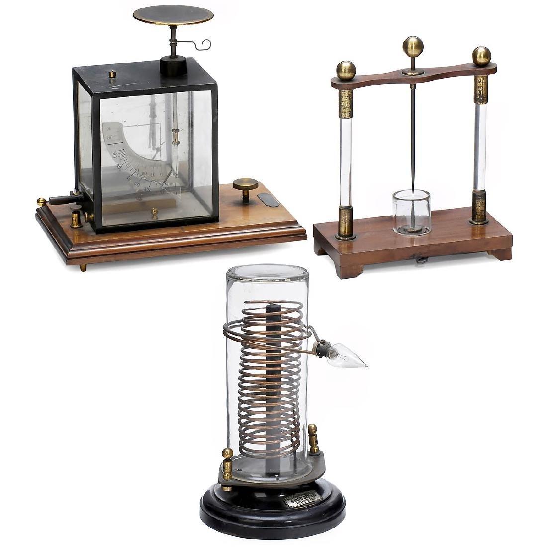 3 Electro-Physical Demonstration Models, c. 1915