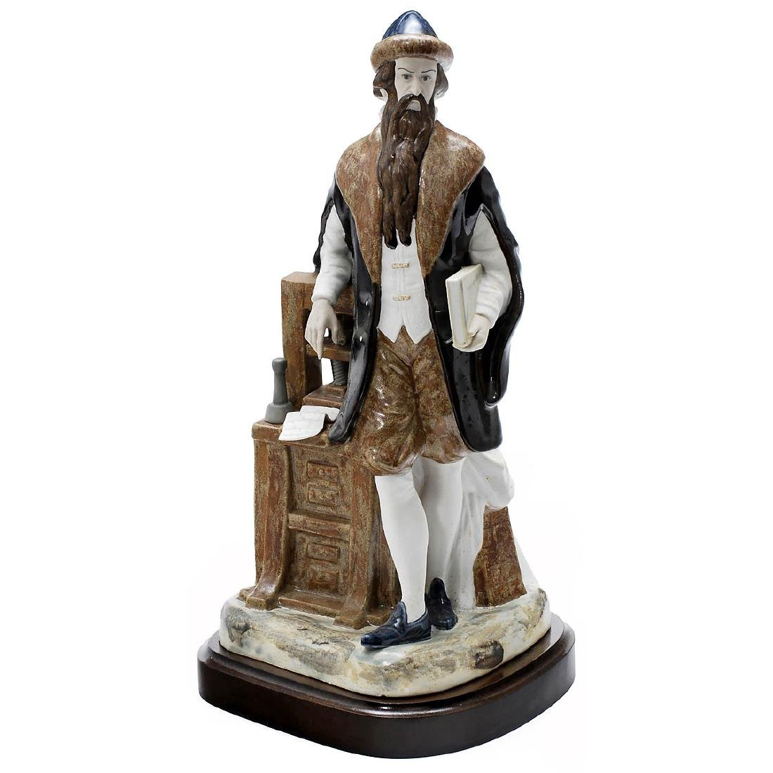 Porcelain Sculpture of the Inventor of Printing