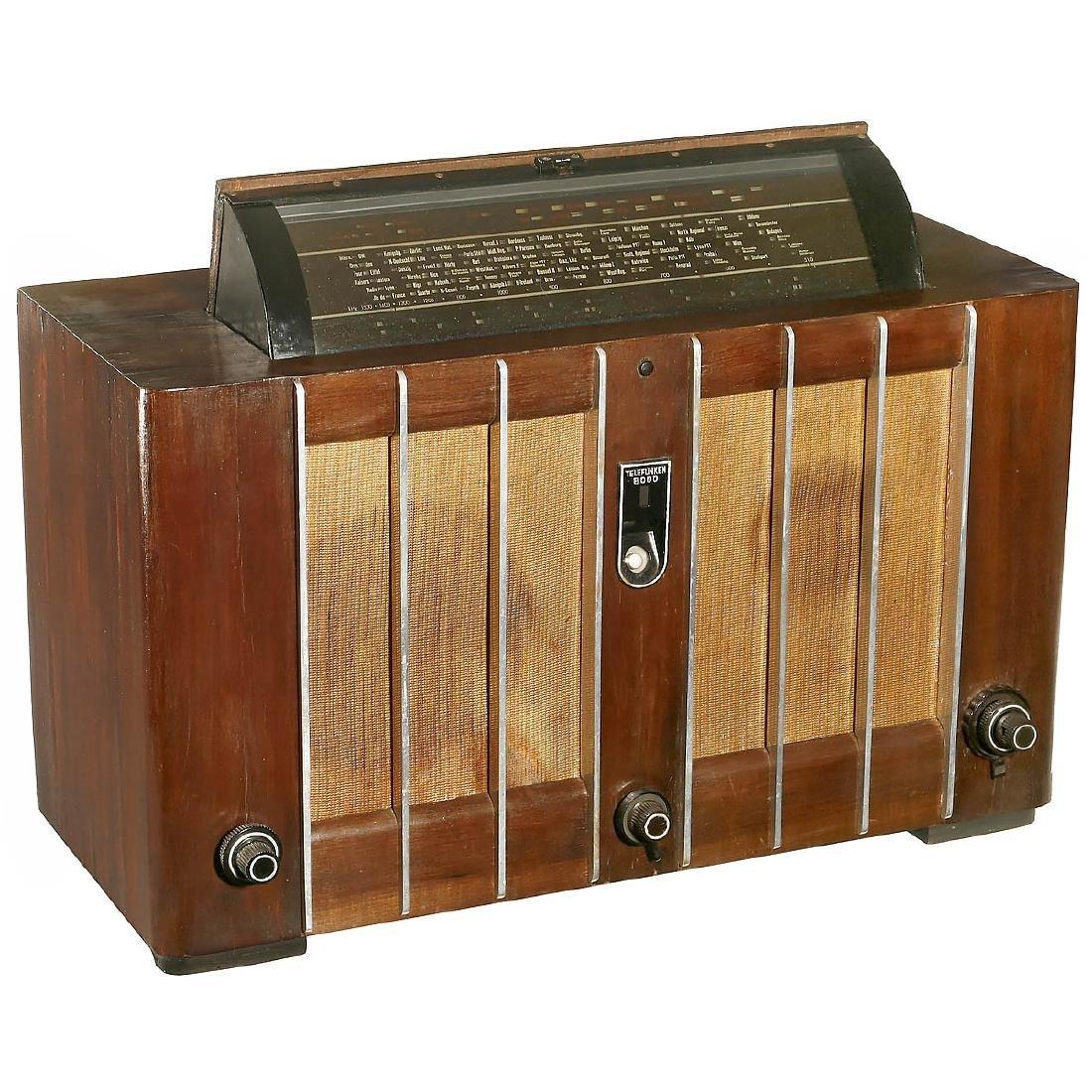Telefunken-Spitzen-Super 8000 GWK Radio, 1938