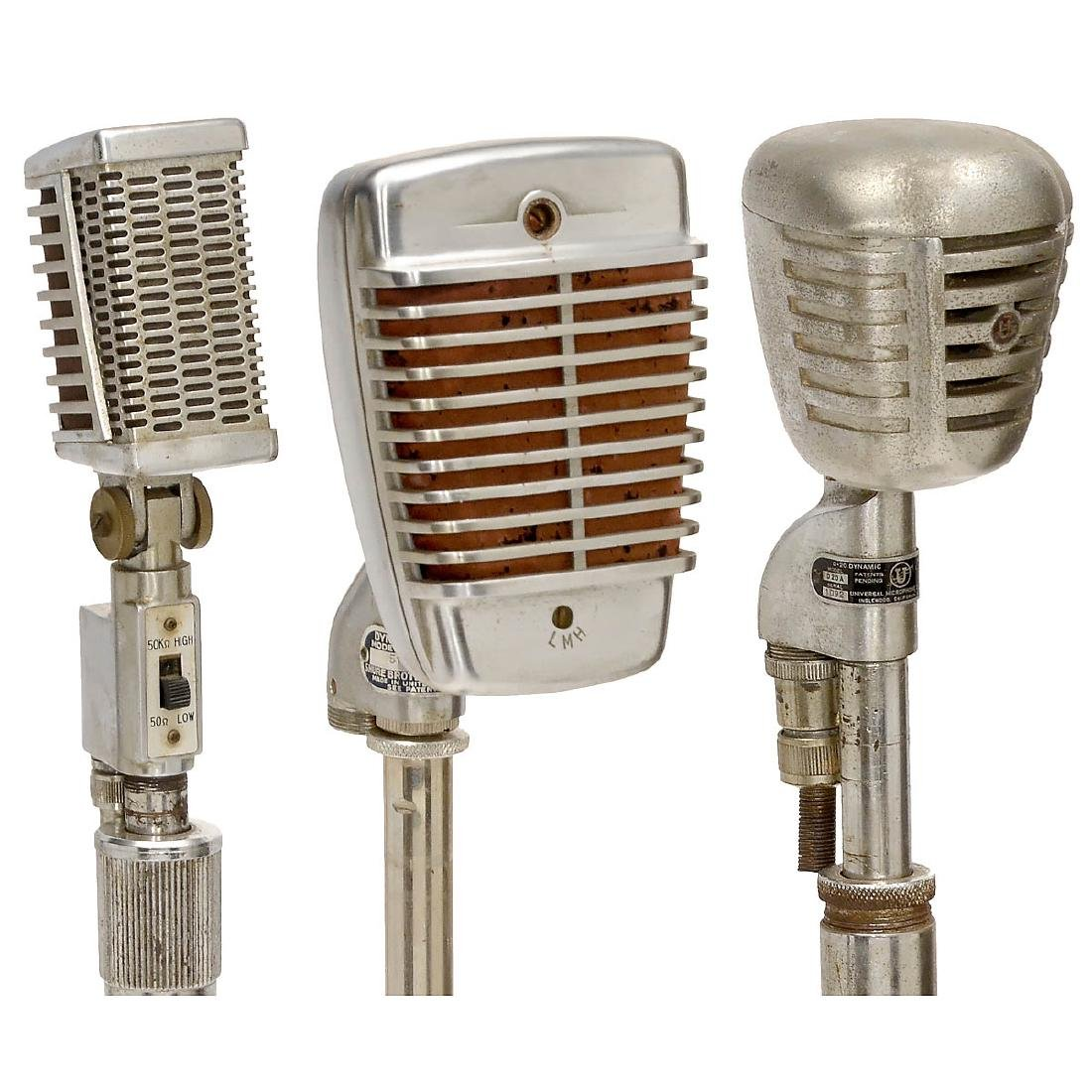 3 Microphones on Stands