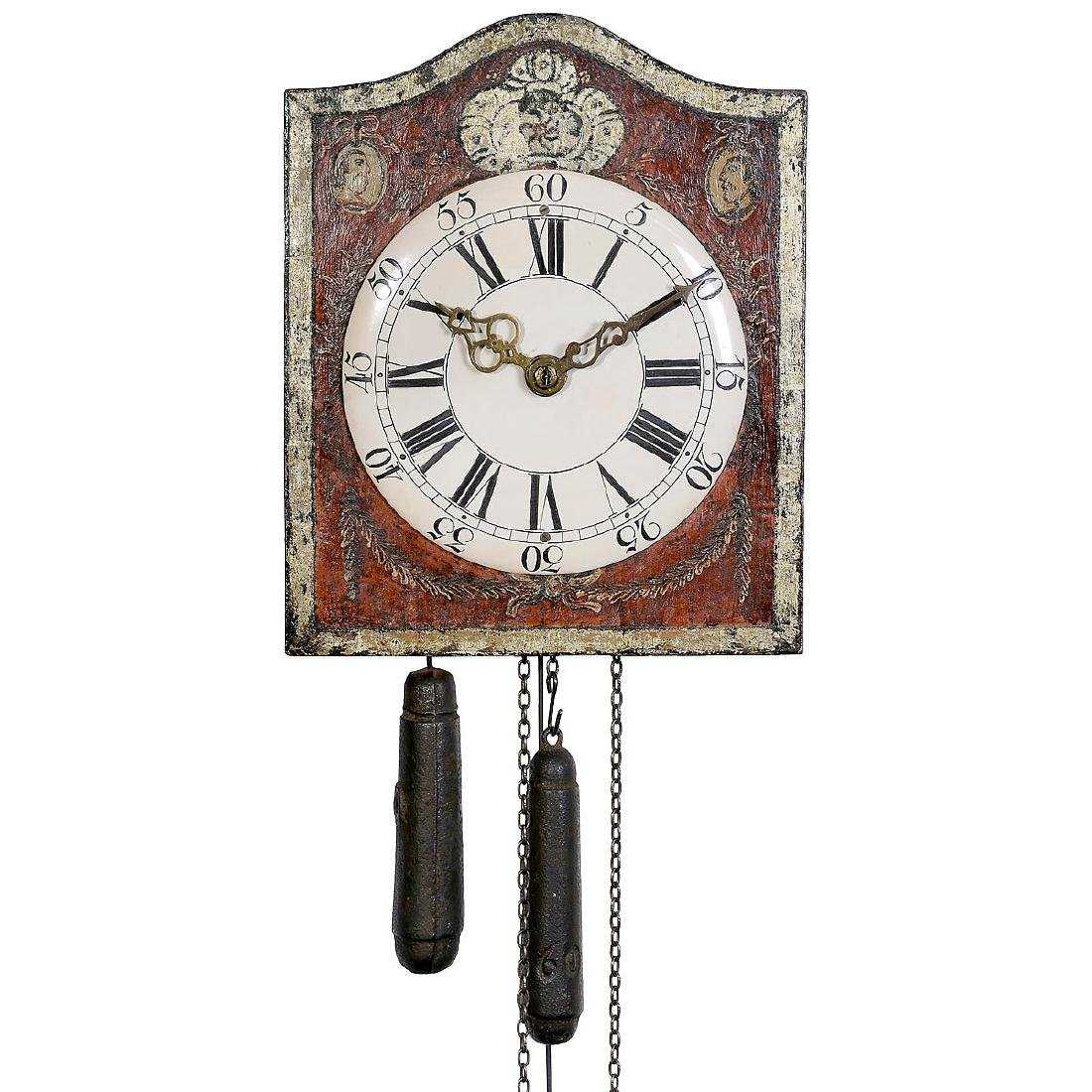 Early Southern German Wall Clock, c. 1780