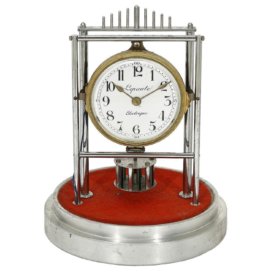 "French ""Lepaute Electrique"" Electric Table Clock, c."