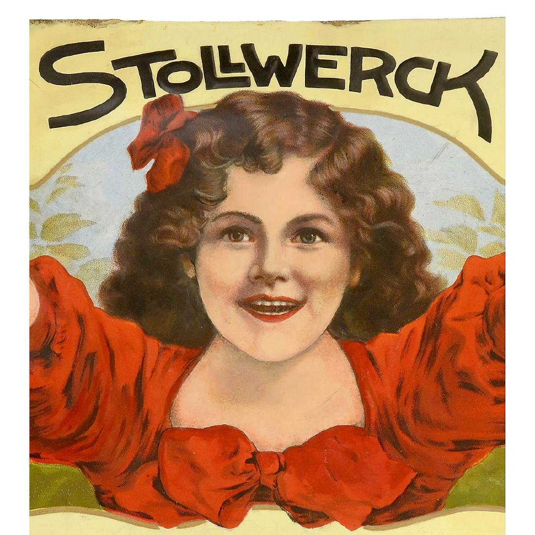 Stollwerk Enamel Advertising Sign, c. 1914 - 2