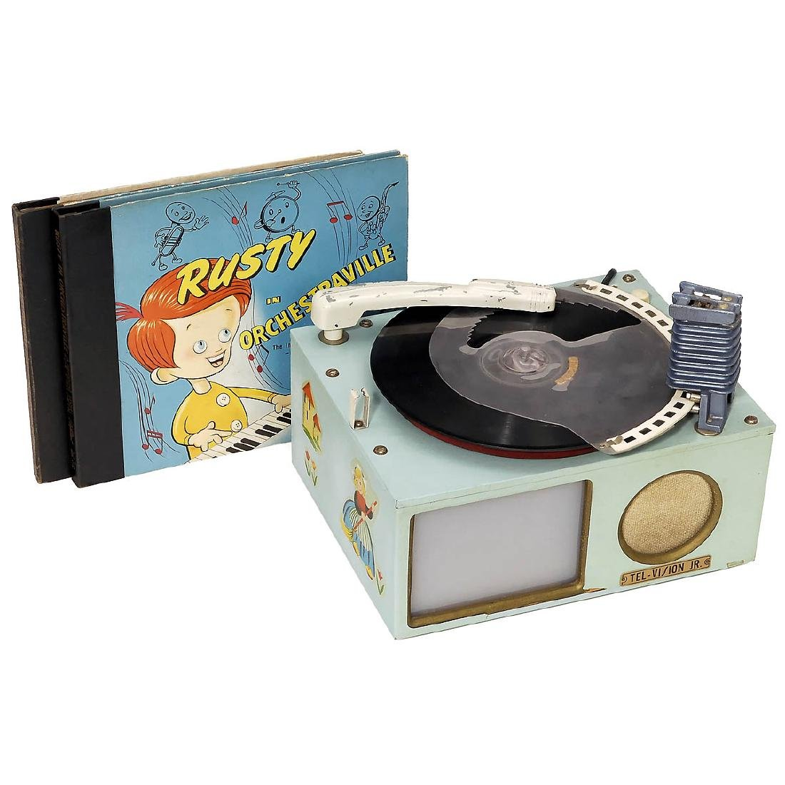 Tel-Vision Jr. Record Player with Slide Projection, c.