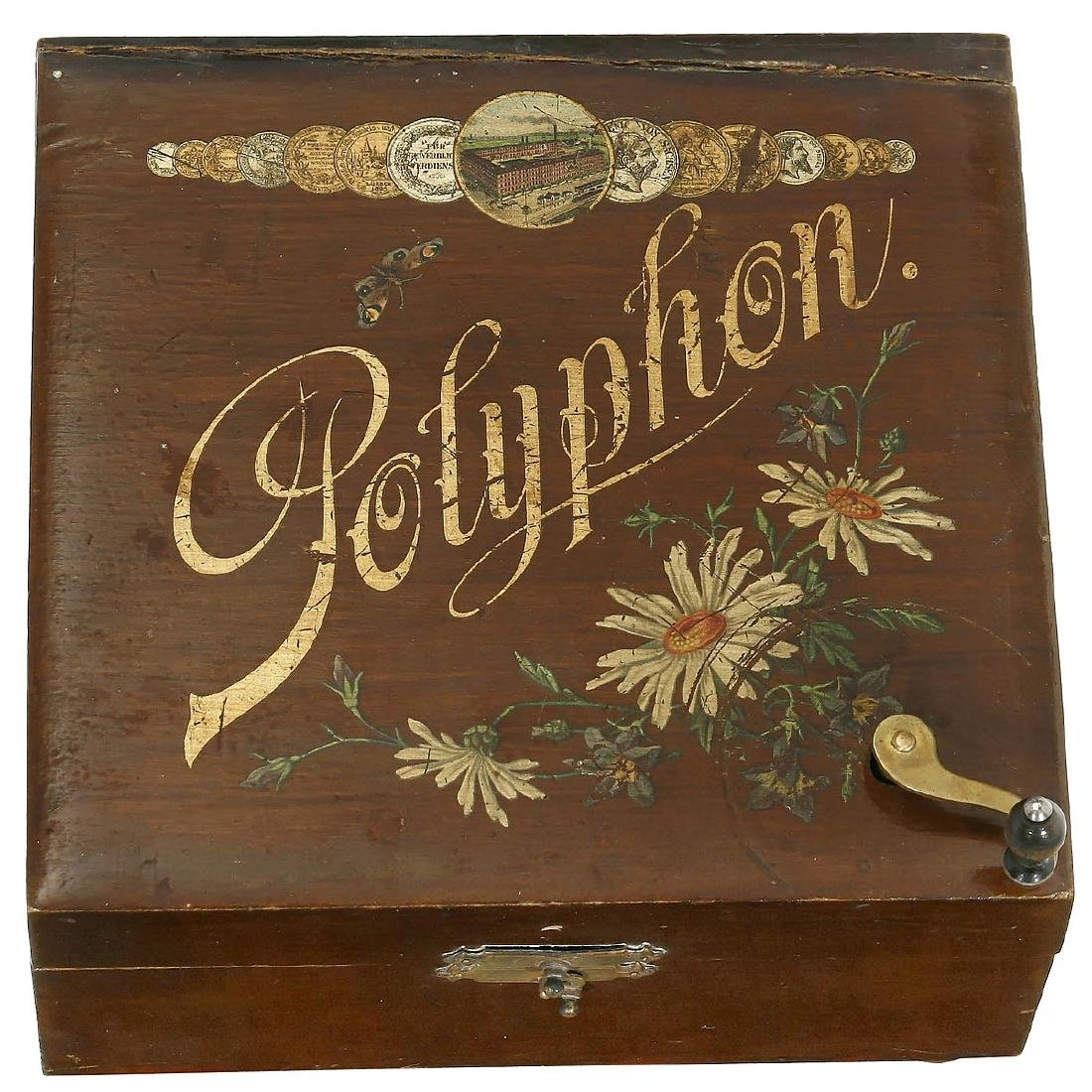 Polyphon Manivelle Disc Musical Box, c. 1900