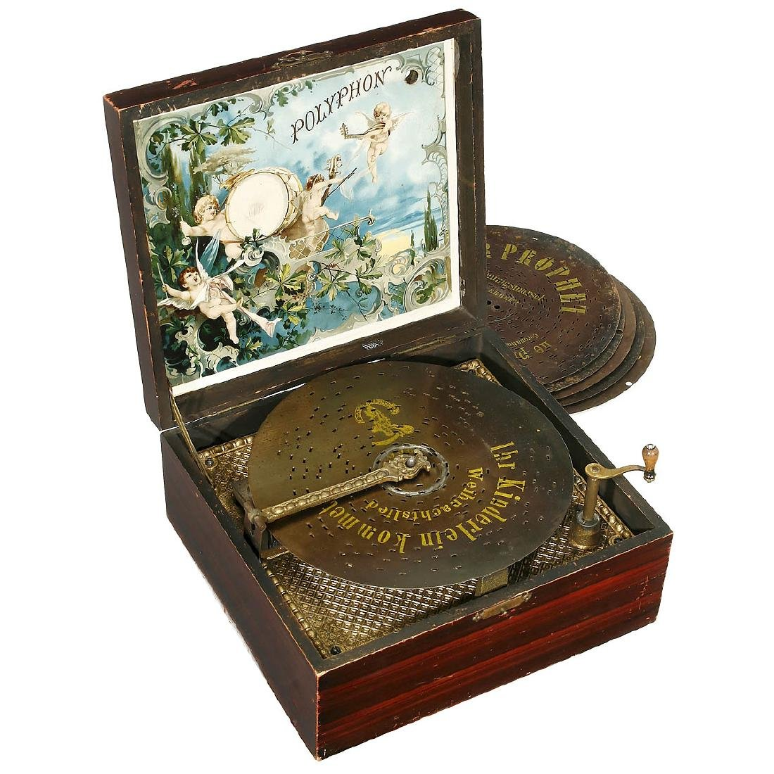 Polyphon Manivelle Disc Musical Box, c. 1900