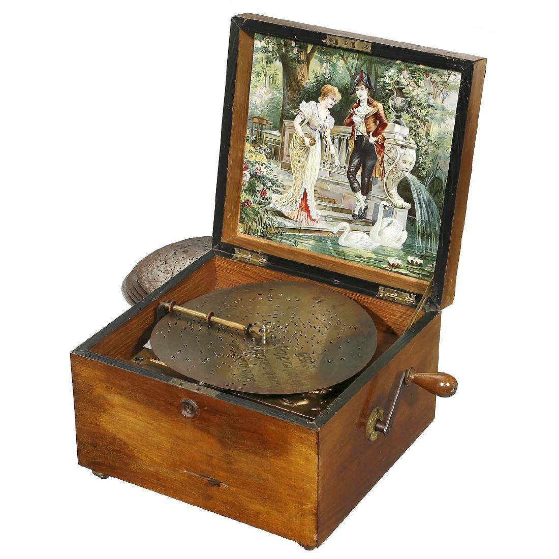 Troubadour Disc Musical Box, c. 1900