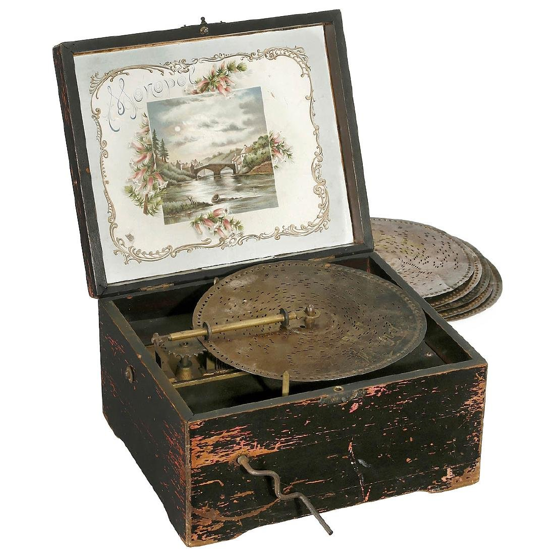 Monopol Manivelle Disc Musical Box, c. 1900