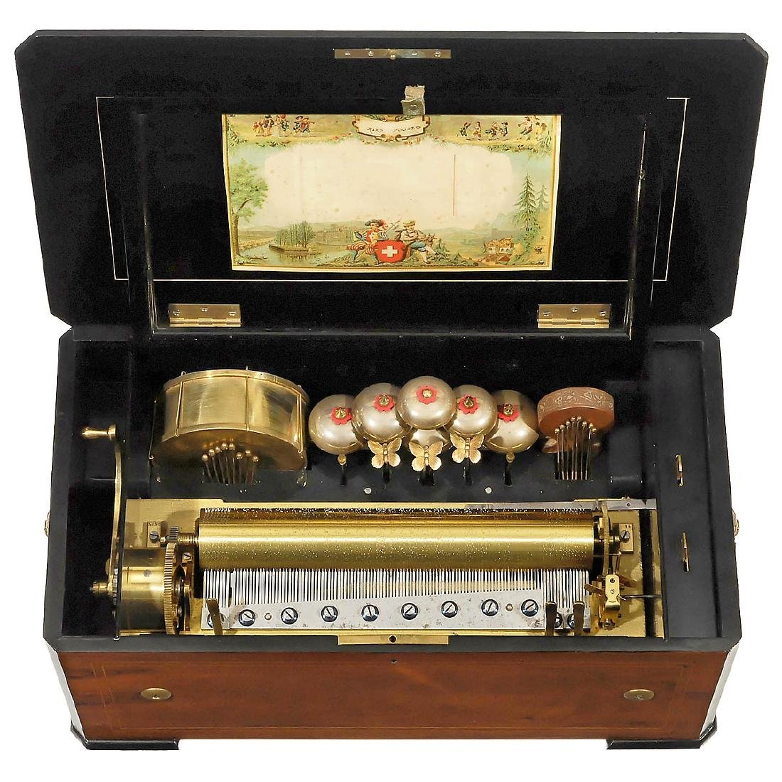 Orchestral Musical Box with Overture Motif, c. 1880